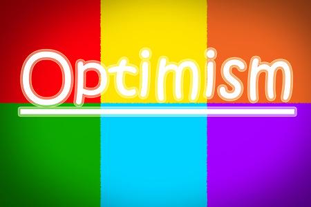 楽観: 背景に楽観的なコンセプトのテキスト 写真素材