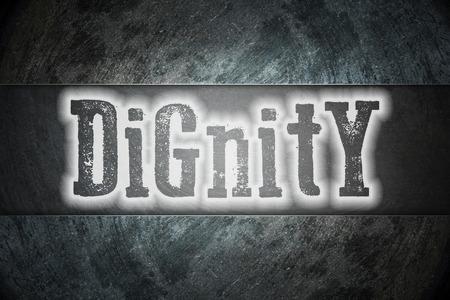 dignidad: Texto Concepto Dignidad en el fondo