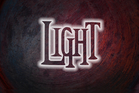 Light Concept text on background photo