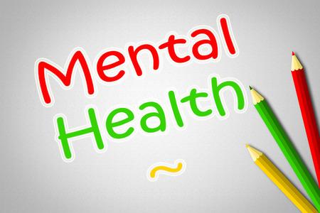 enfermedades mentales: Texto Concepto de Salud Mental en el fondo