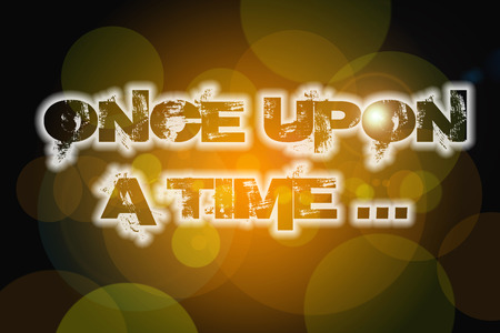 phrase novel: Once Upon A Time.. Concept text on background Stock Photo