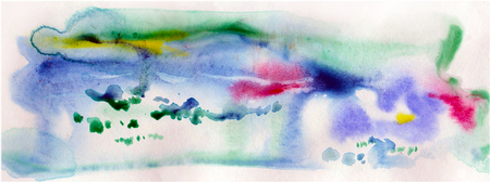 paysage: watercolor abstract paysage