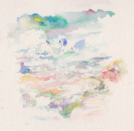 paysage: watercolor abstract background