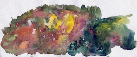 paysage: watercolor paysage Stock Photo