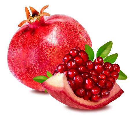 pomegranate isolated on white background Reklamní fotografie