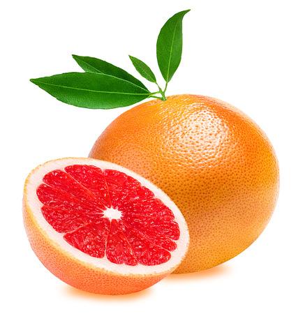 白い背景に分離されたグレープ フルーツ