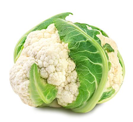 Cauliflower isolated on white background Foto de archivo