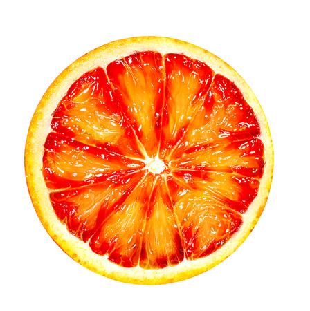 Red orange fruit isolated on white background