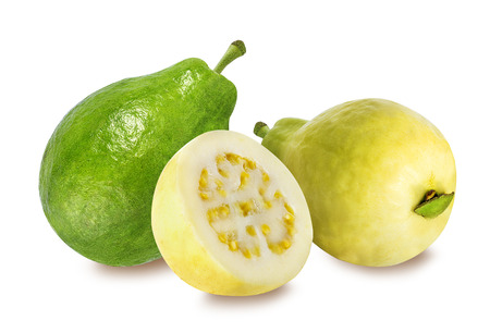 guava fruit: guava isolated on white background