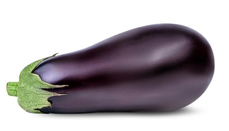aubergines op een witte achtergrond