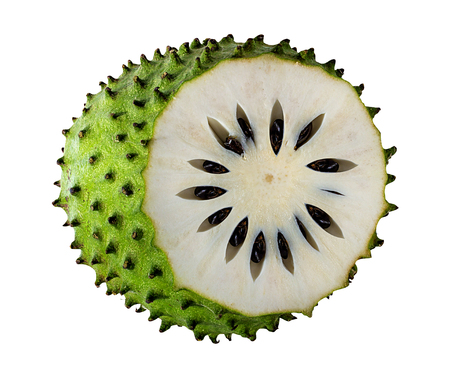 Annona muricata.Soursop fruit (Sugar Apple ,custard apple ) isolated on white background