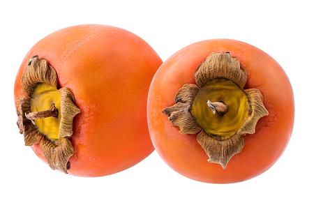 Dadelpruimfruit op witte achtergrond wordt geïsoleerd die