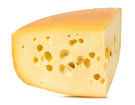 Fresh cheese isolated on white background