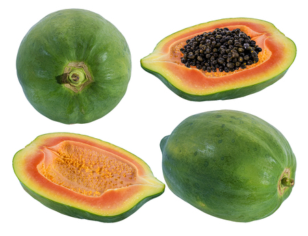 papaya isolated on a white background