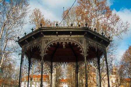 Old pavilion in Zrinjevac Park in Zagreb, Croatia