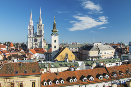 upper: Zagreb cathedral from Upper town