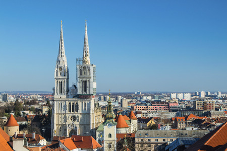 Zagreb cathedral from Upper town