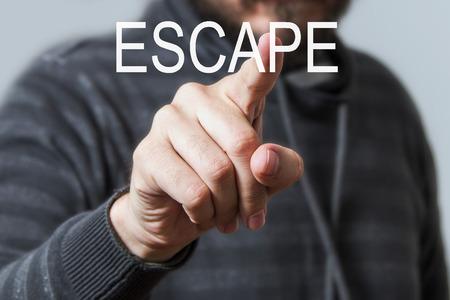 escape: Escape Concept Stock Photo