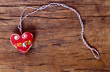 Licitar heart, traditional souvenir in Croatia