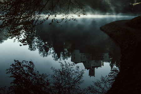 tranquilly: Old castle Trakoscan, Croatia, mystic atmosphere, reflection in water
