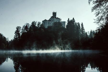 atmosphere: Vecchio castello Trakoscan Croazia atmosfera mistica oscura Archivio Fotografico