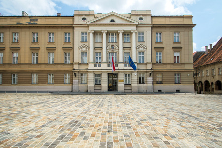 Croatian parliament in Upper town in Zagreb