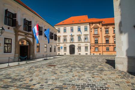 st  mark's square: Historic buildings on St Marks Square in Zagreb, Croatia