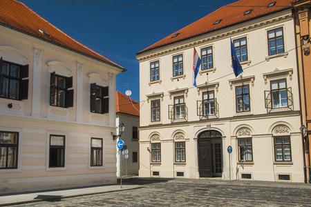 st marks square: Historic buildings on St Marks Square in Zagreb, Croatia