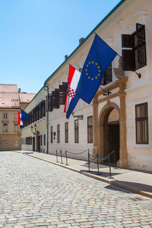 st marks square: Palace of Croatian Government on St Marks Square, Zagreb, Croatia