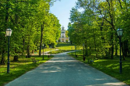 Pavilion in park Maksimir in Zagreb, Croatia