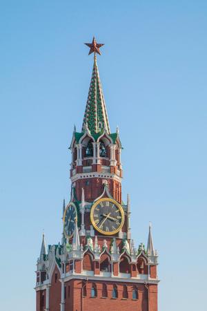 spassky: Moscow Kremlin, Spasskaya Tower, detail, sky in the background