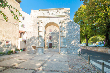 ambient: Old gates and street in the old town of Cres, Croatia, Mediterranean ambient