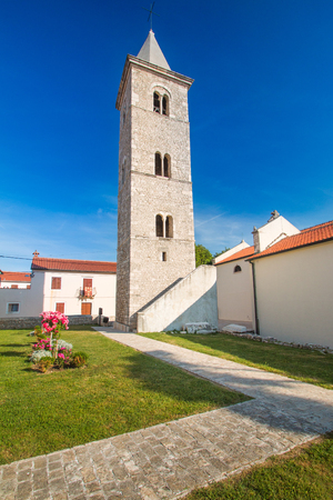 Tower bell of church of Saint Anselmo in Nin, Dalmatia, Croatia