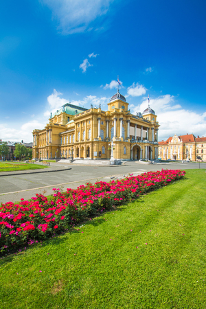 Croatian national theater building in center of Zagreb, Croatia