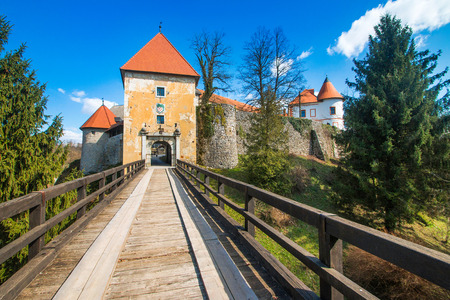 Entrance to Ozalj Castle in the town of Ozalj, Croatia, Europe