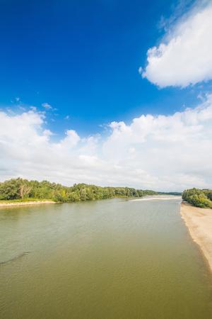 River Drava, Podravina, Croaita, panoramic view
