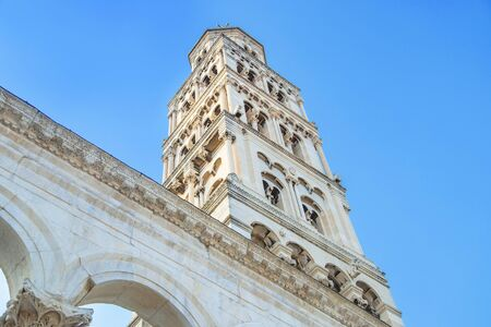 City of Split, Croatia, cathedral tower in Roman emperor Diocletian palace