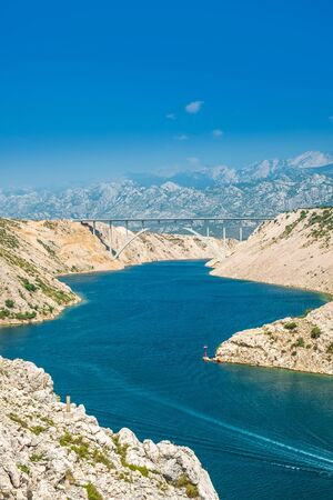 Highway bridge on Maslenica, Croatia, Dalmatian landscape Standard-Bild