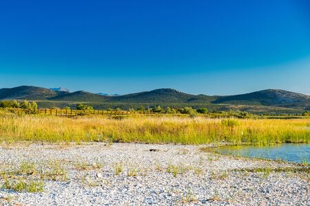 Beautiful nature park Vransko lake, ornithological reservation in Dalmatia, Croatia Stock fotó
