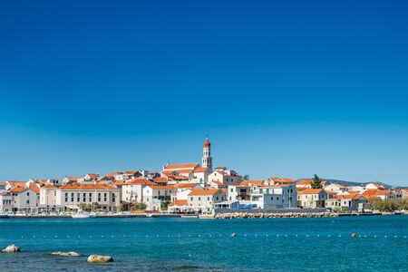 Beautiful old traditional coastal town of Betina on Murter island in Dalmatia, Croatia