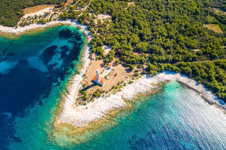 Beautiful Croatia, Spectacular Adriatic coastline, lighthouse of Veli Rat on the island of Dugi Otok in early morning Stock fotó