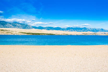 Croatia, beautiful sand Zrce beach on Pag island