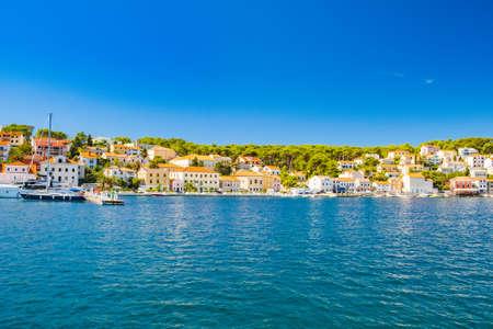 Town of Mali Losinj on the island of Losinj, touristic destination on Adriatic coast in Croatia 免版税图像