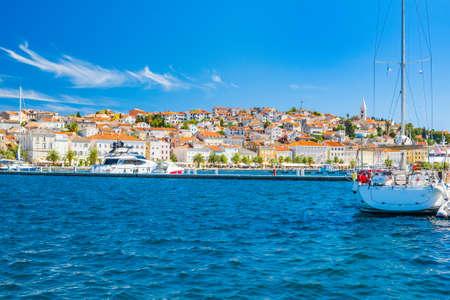 Beautiful town of Mali Losinj on the island of Losinj, Adriatic coast in Croatia 免版税图像