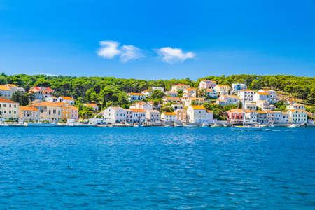 Seafront in town of Mali Losinj on the island of Losinj, Adriatic coast in Croatia
