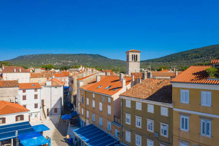 Panoramic view of old town of Cres on the island of Cres, Croatia