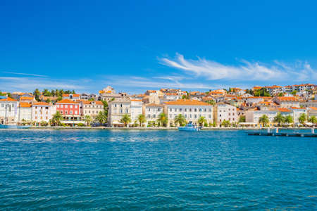 Waterfront in town of Mali Losinj on the island of Losinj, Adriatic coast in Croatia