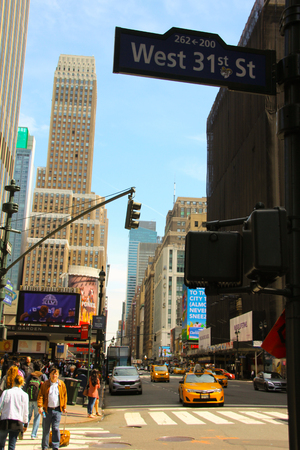 Sunny day in downtown Manhattan, New York