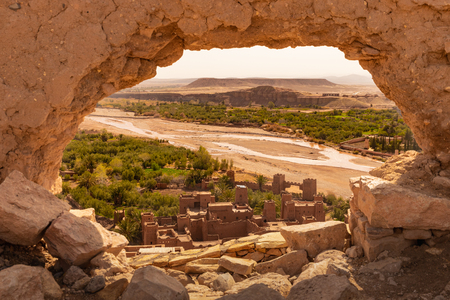 View from the top of Ait Benhaddou ancient village in Morocco