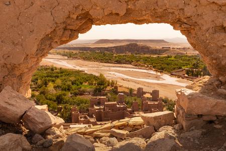 Vue du haut de l'ancien village d'Ait Benhaddou au Maroc Banque d'images